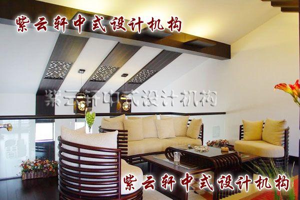 现代中式装修设计之二层休闲厅