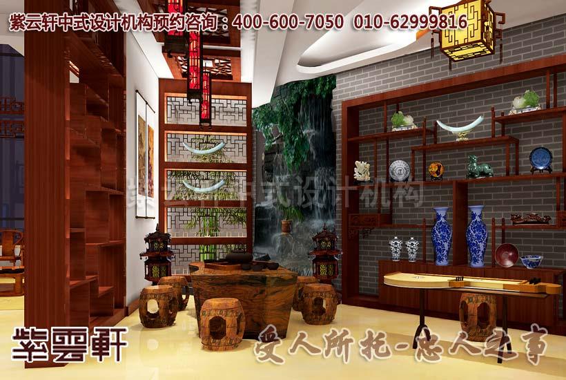 别墅中式装修设计-茶室:琴音潺潺清香味,自在去处
