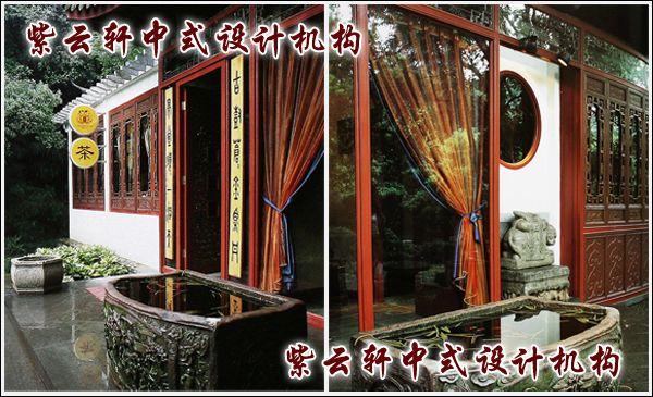 茶馆中式装修设计-茶馆一景:水盈客