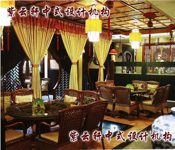 茶馆中式装修设计-大包间