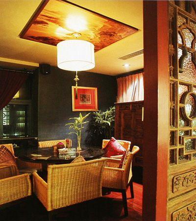 茶馆中式装修设计-包间角度