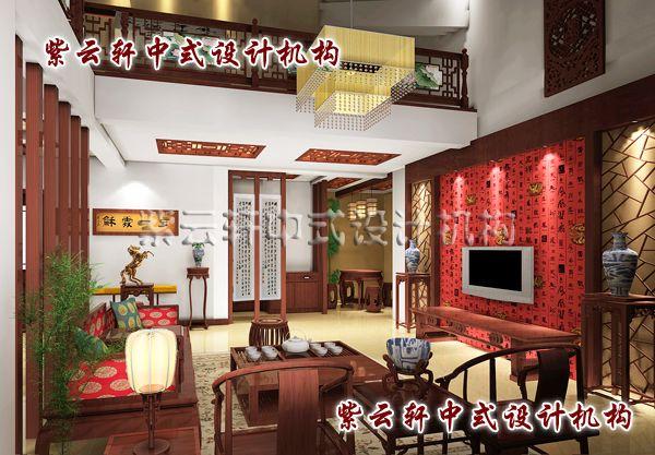 中式客厅装修设计,多功能中心演绎着精彩的故事