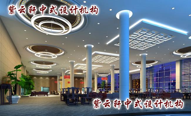 酒店中式设计休闲厅:古典与现代的双重华丽,体现1+1大于2的设计理念