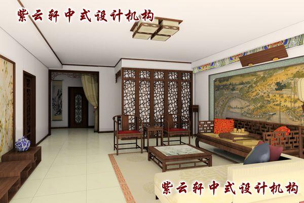 四合院古典中式装修风格设计-客厅:儒雅,大气,风范于大成者