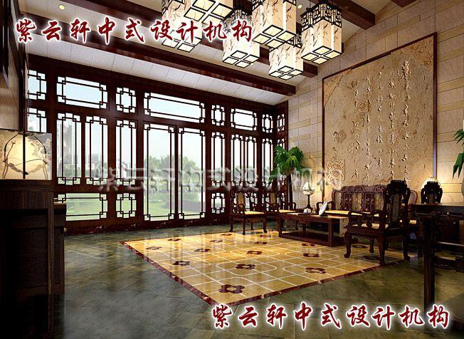 四合院中式中堂:碧水芳草湖畔,诗书富贵人家