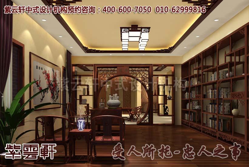 一套中式别墅装修图片大全,格栅之美不可方物
