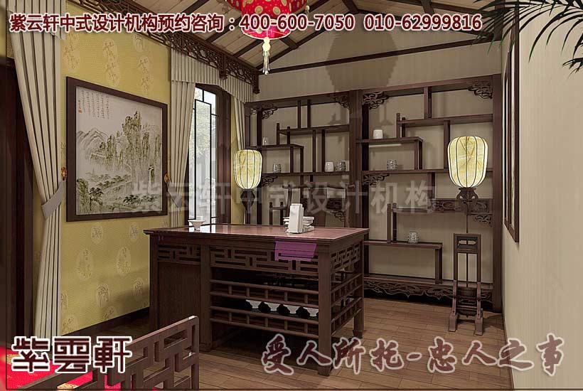 中式别墅装修风格-书房