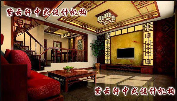 别墅中式装修-古典元素的现代风情开封案例_紫云轩