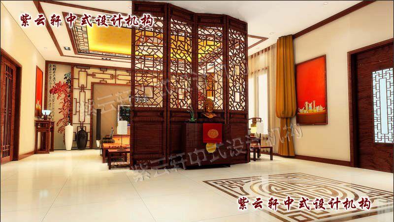 简约中式客厅:放眼则有喜气腾腾之感,予人精神感觉温暖舒适,心情舒畅。
