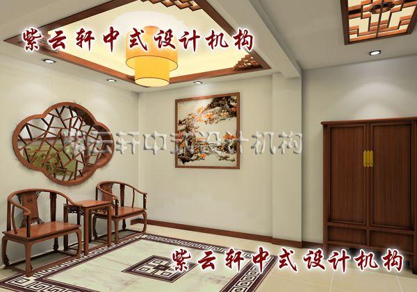 古典简约中式装修风格江南坊之入户玄关