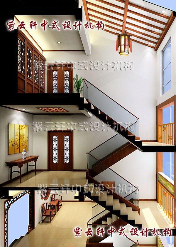 古典简约中式装修风格江南坊之楼梯间