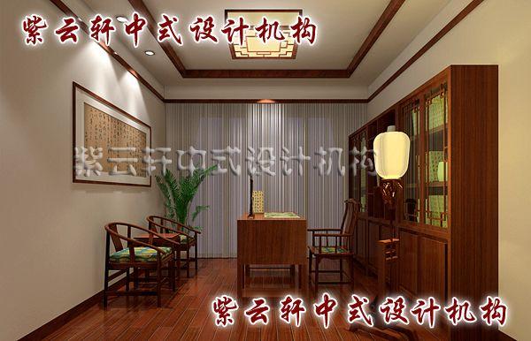 """古典简约中式装修风格江南坊之书房:""""古韵""""十足的书房、静心潜读的空间"""