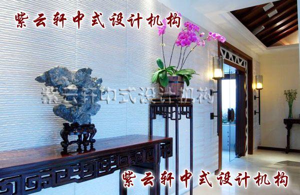 新中式玄关角度:珊瑚石、蝴蝶兰,把仕途顺畅、幸福美满的祝愿巧妙得嵌于其中,感受匠心独具的心念。