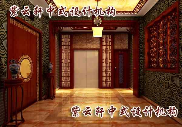 中式酒店过道装修设计