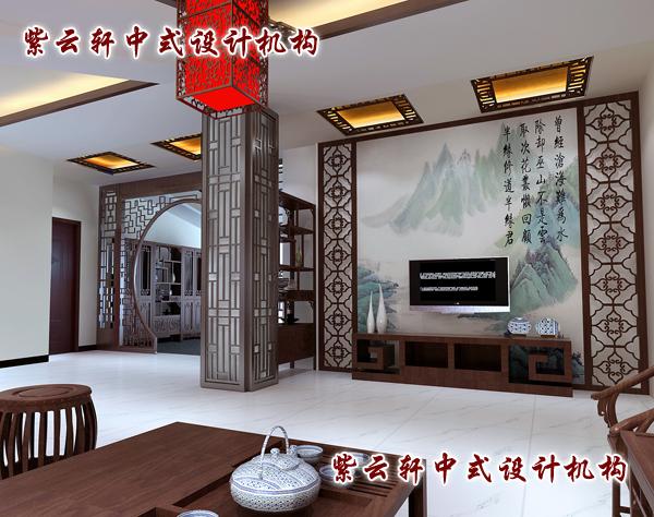 客厅中式隔断效果图图片大全 客厅隔断效果图 中式屏风隔断