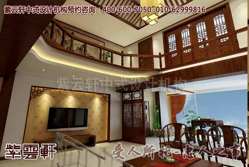 古朴简约的别墅中式装修案例-广州孙宅别墅中式设计图片