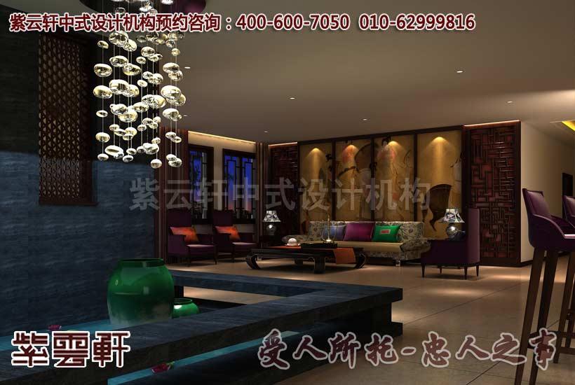 豪宅中式设计之客厅