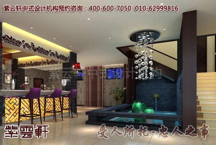 豪宅中式设计之客厅新古典风格