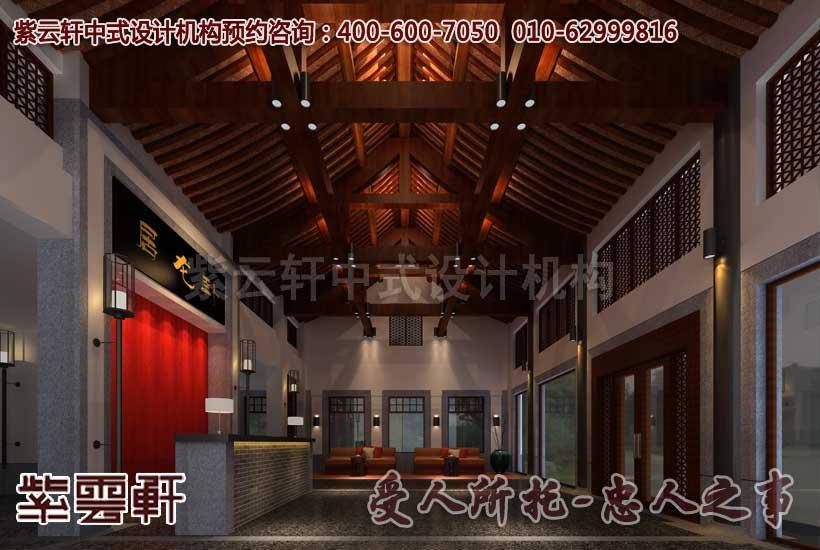 中式装修会所之客房