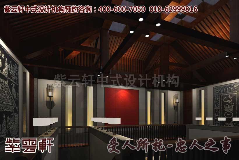 中式装修会所之客房楼梯间