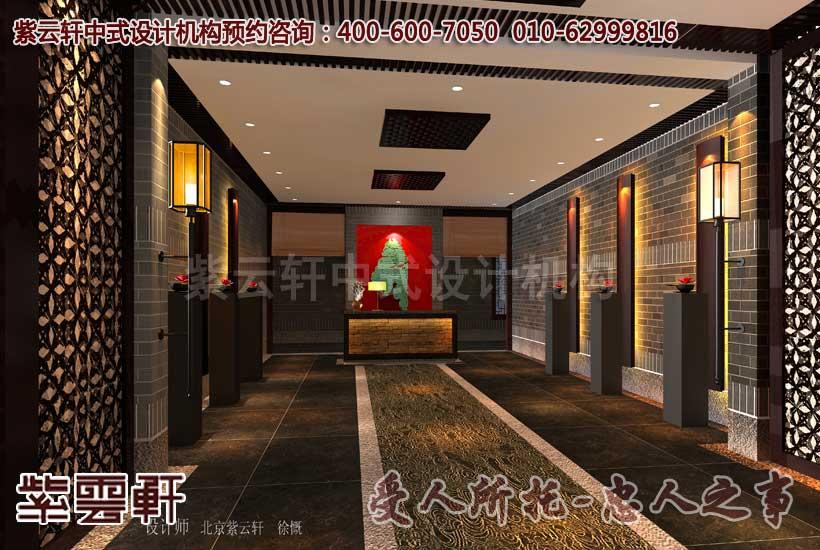 会所中式装修-茶艺区前厅