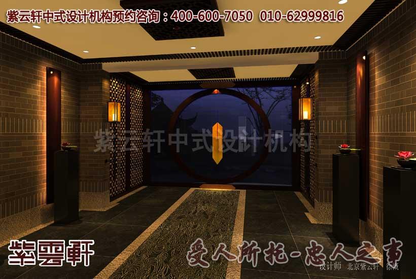 会所中式装修-茶艺区
