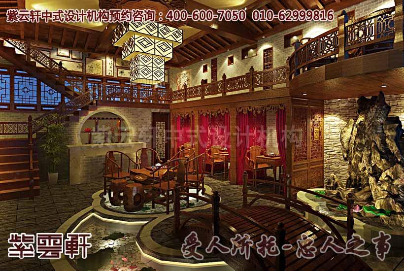 茶楼大厅中式装修图片