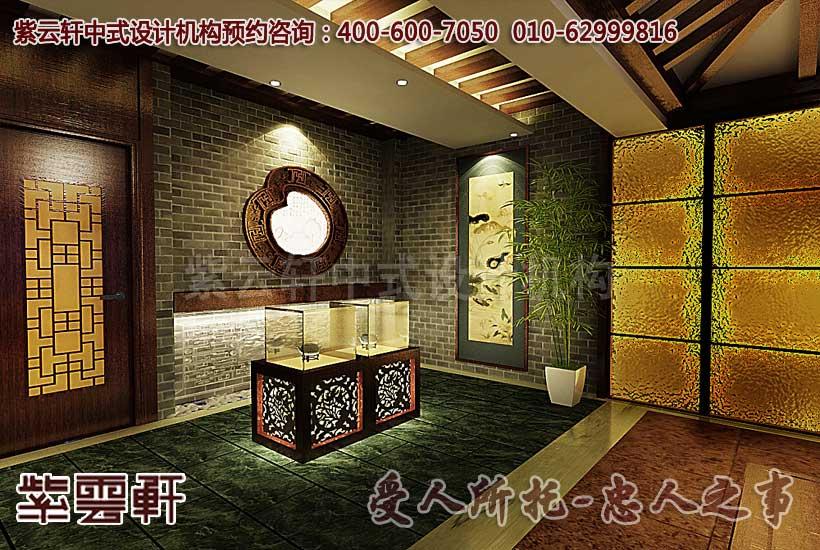 茶楼走廊中式装饰