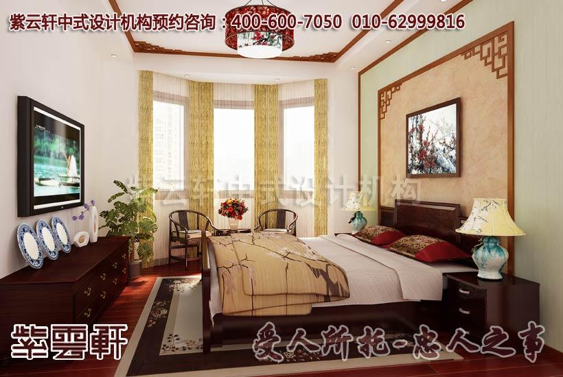 银川居家中式设计装修卧室效果图; 中式装修阳台设计; 简洁明快的