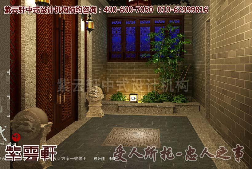 别墅中式装修-玄关