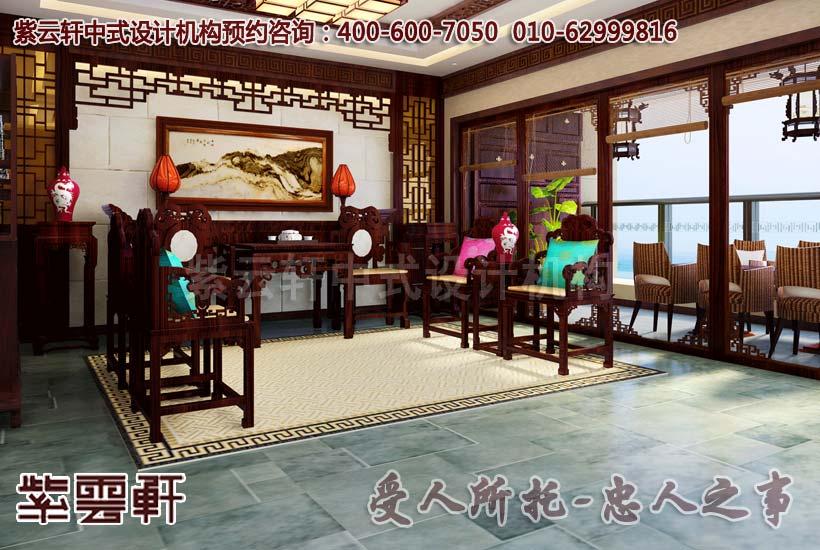 别墅中式装修-客厅