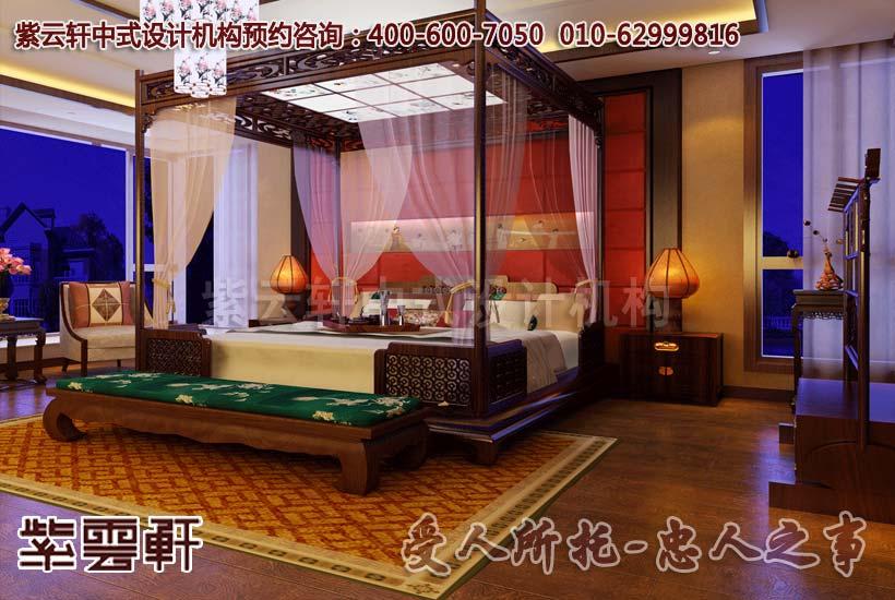 别墅中式装修-卧室