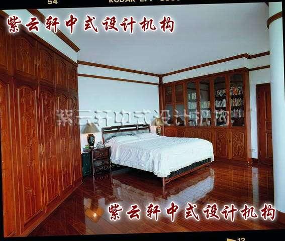中式装修茶馆卧室