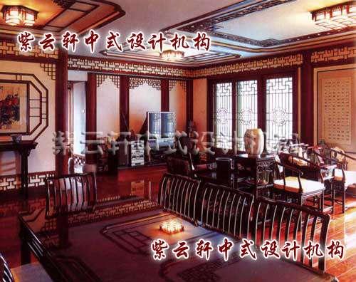 中式装修茶馆散座