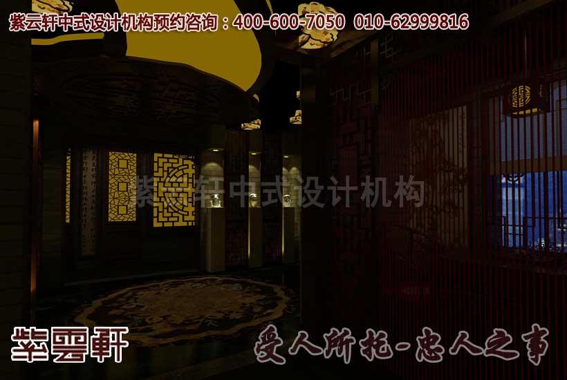 中式会所门厅