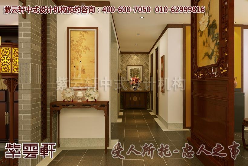 中式风格装修走廊