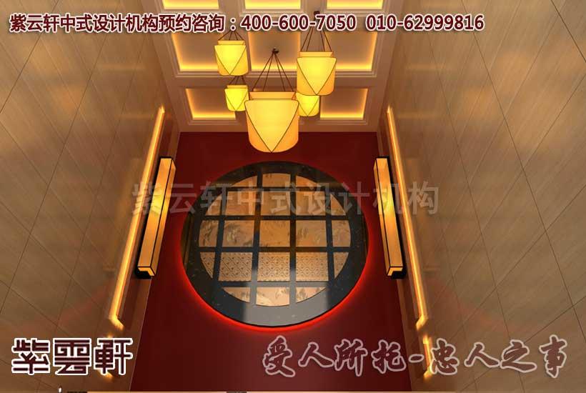 入户楼梯间中式装修效果图; 入户楼梯间; 楼梯间墙面设计