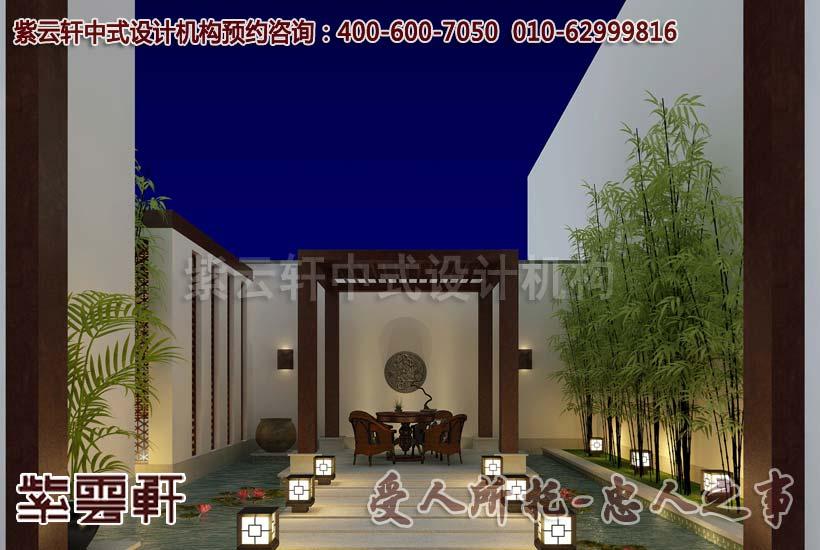 古典中式风格别墅装修—阳台