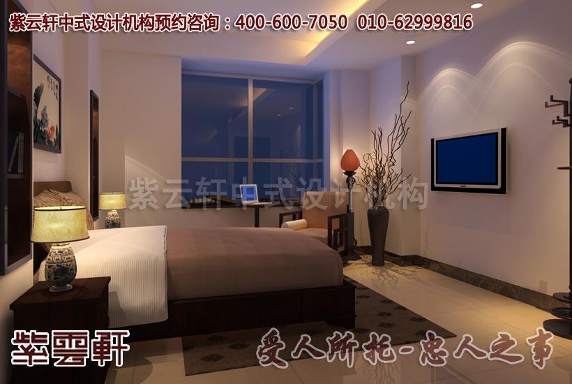 简约中式装修风格平层--卧室效果图-虽由人造,宛若天开 古典简约中式