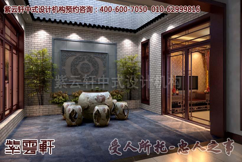 紫云轩简约中式别墅设计案例赏析图片