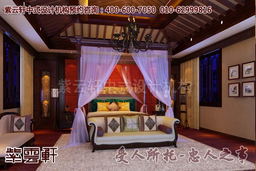 古典风格别墅卧室中式装修图片