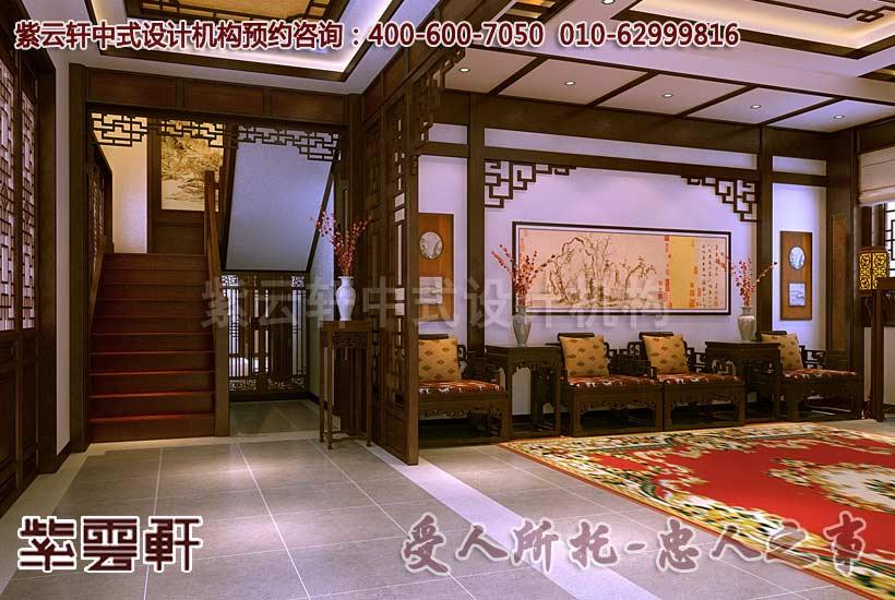 紫云轩现代中式装修案例赏析--楼梯间