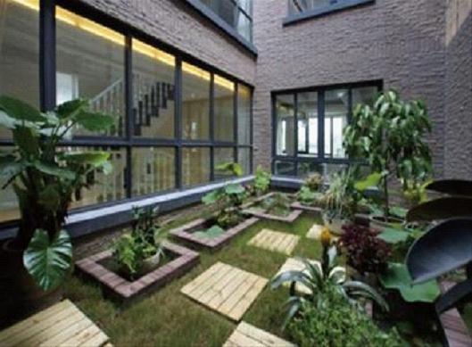 新中式庭院 新中式庭院设计 新中式庭院平面图; 中式装修效果图; 中式
