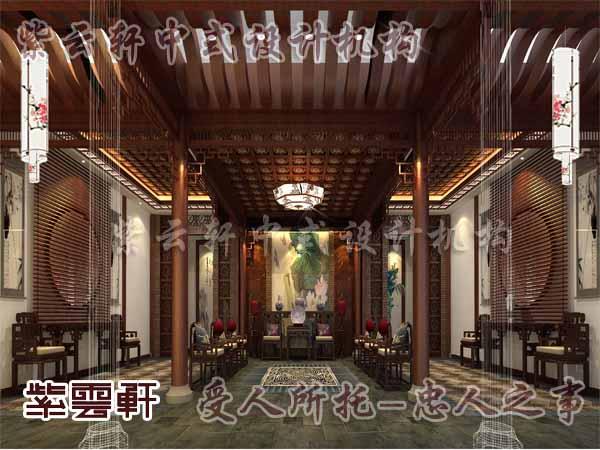 紫云轩中式设计师说:石柱原本是古代建筑的重要元素,现在我们把它图片