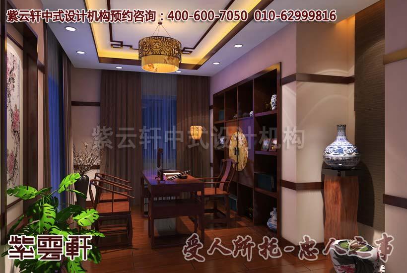中式别墅茶室效果图