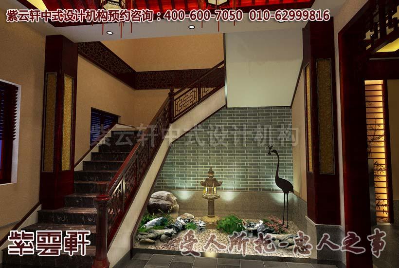 中式楼梯间效果图