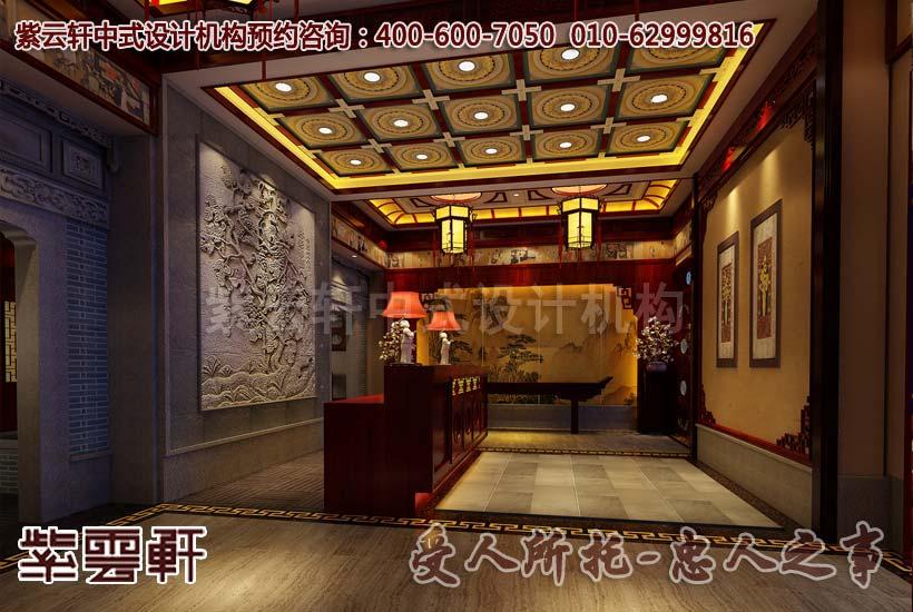 中式会所大厅效果图