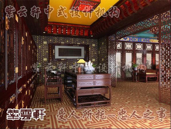 中式书房窗帘效果图图片大全 中式书房效果图