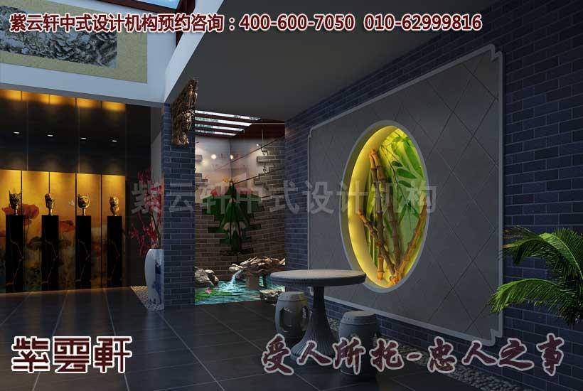 新中式古典大厅效果图