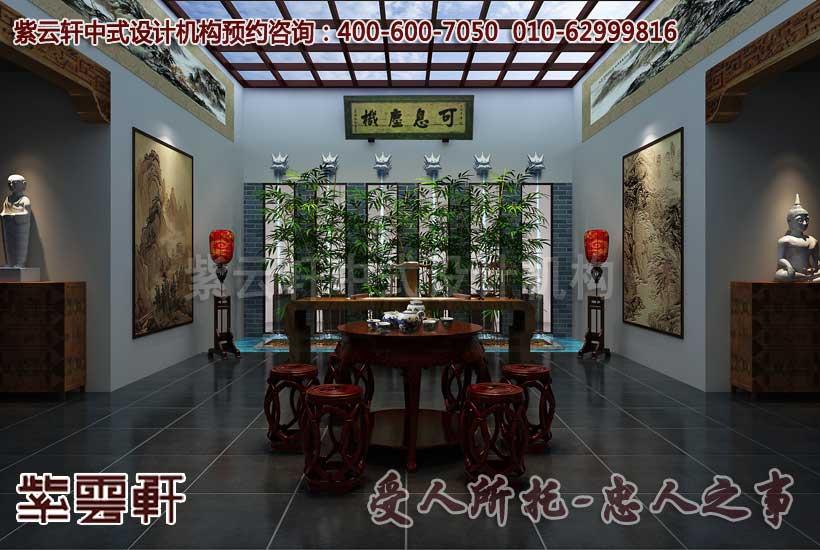 中式古典茶室效果图
